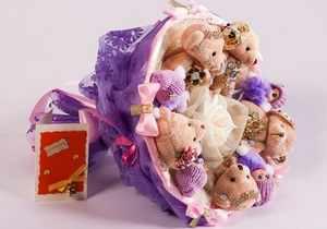 изготовление букетов из мягких игрушек