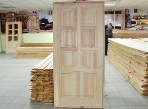 производство дверей из массива сосны